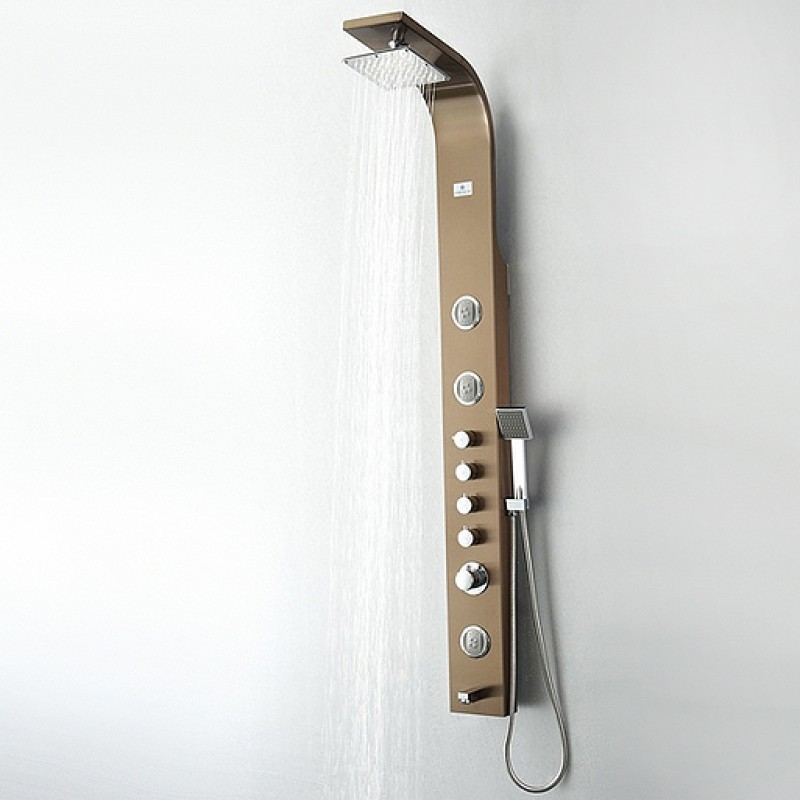 FSP8009BB Geona (Brushed Bronze) Thermostatic Shower Massage Panel