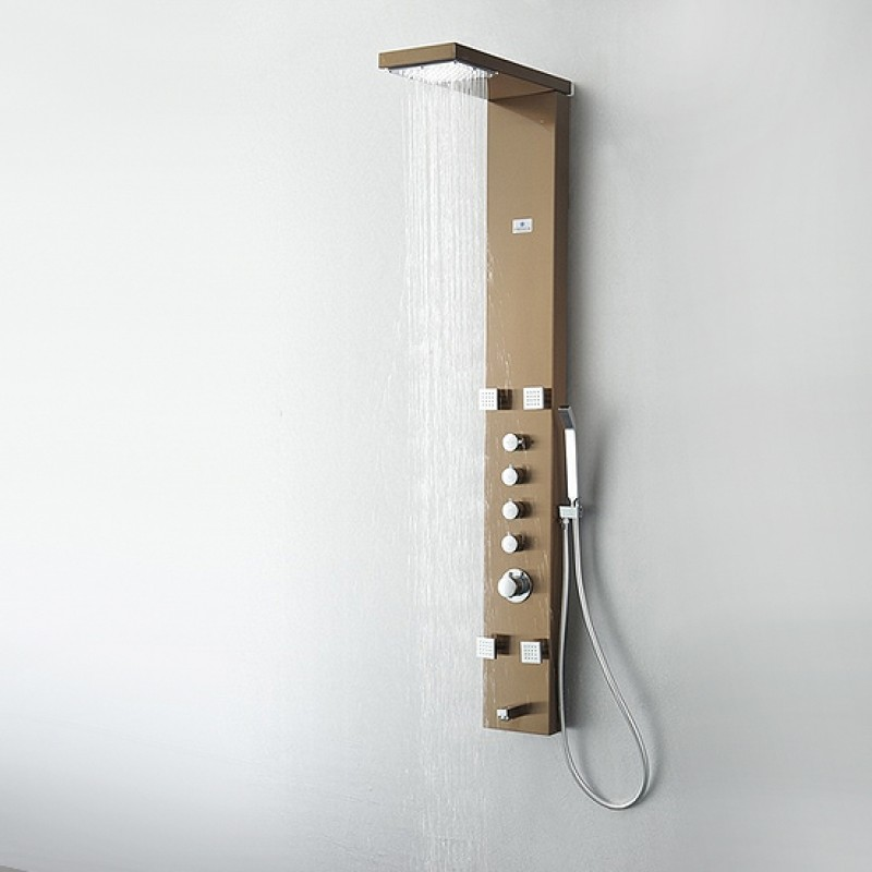 FSP8006BB Verona (Brushed Bronze) Thermostatic Shower Massage Panel